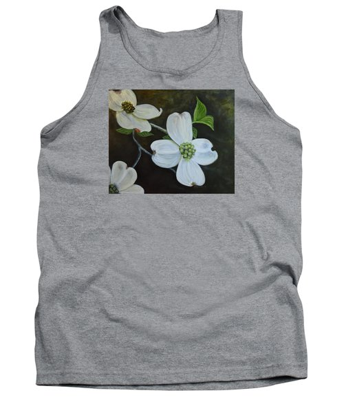 Tank Top featuring the painting Dogwood Dream by Sandra Nardone