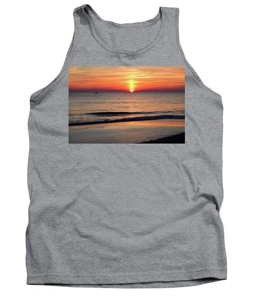 Dolphin Jumping In The Sunrise Tank Top