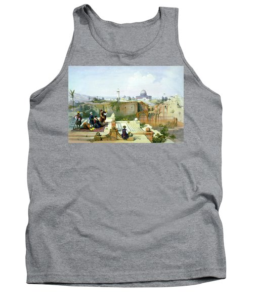 Dome Of The Rock In The Background Tank Top by Munir Alawi