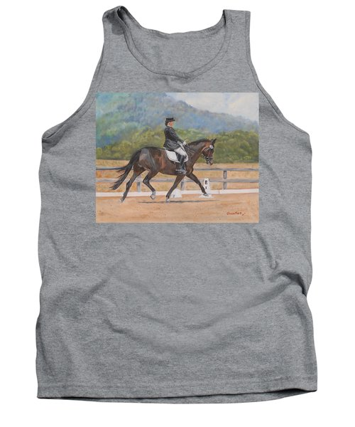 Tank Top featuring the painting Donnerlittchen by Quwatha Valentine