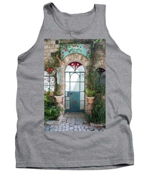Tank Top featuring the photograph Door Entrance To The Art by Yoel Koskas