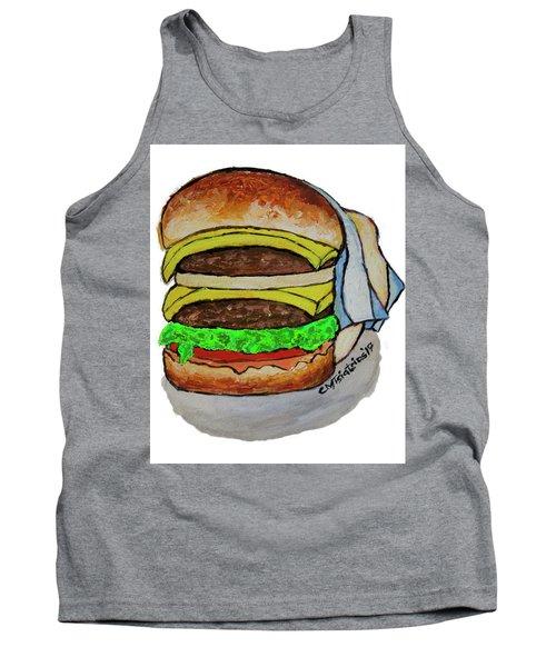 Double Cheeseburger Tank Top