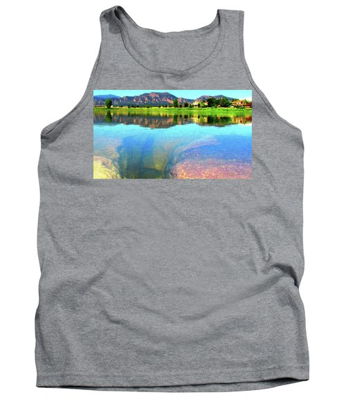 Tank Top featuring the photograph Doughnut Lake by Eric Dee