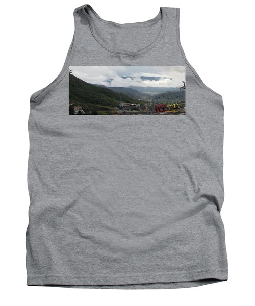 Down The Valley At Snowmass #3 Tank Top