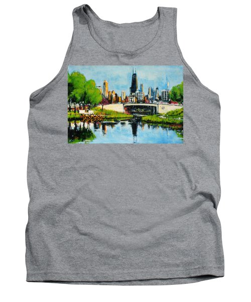 Downtown Chicago From Lincoln Park Tank Top