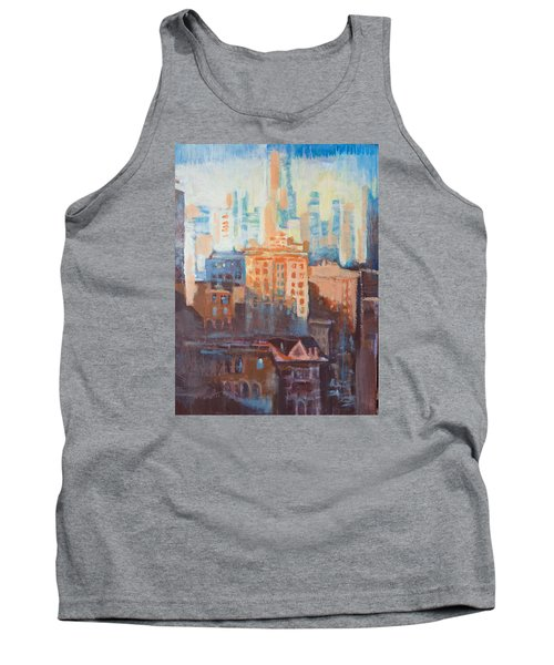 Downtown Old And New Tank Top by John Fish