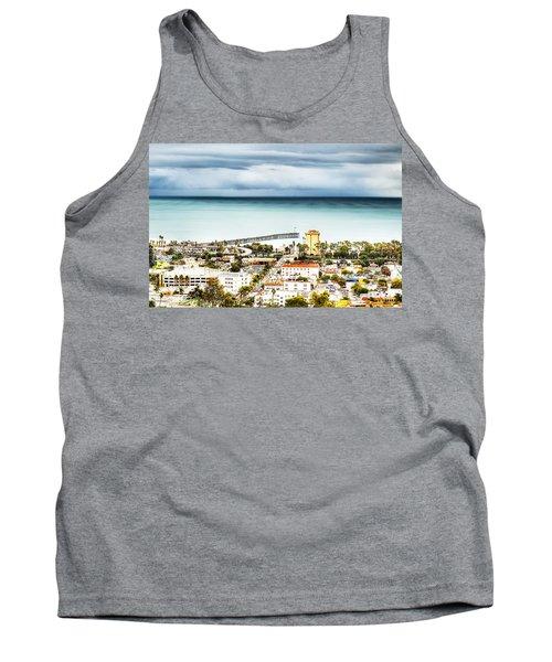 Downtown Ventura And Pier Tank Top by Joe  Palermo