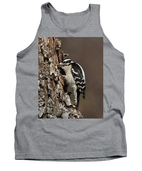 Downy Woodpecker's Secret Stash Tank Top