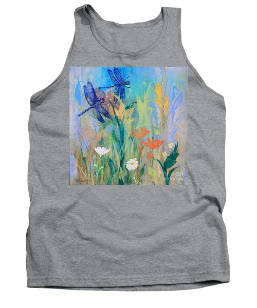 Dragonflies In Wild Garden Tank Top