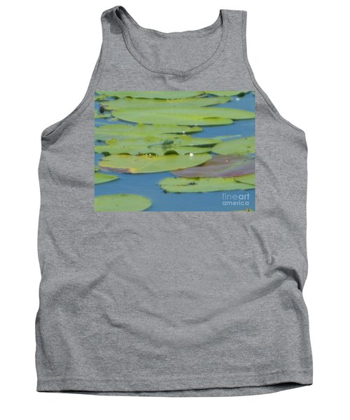 Dragonfly On Lily Pad Tank Top