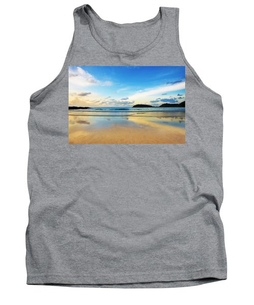 Dramatic Scene Of Sunset On The Beach Tank Top