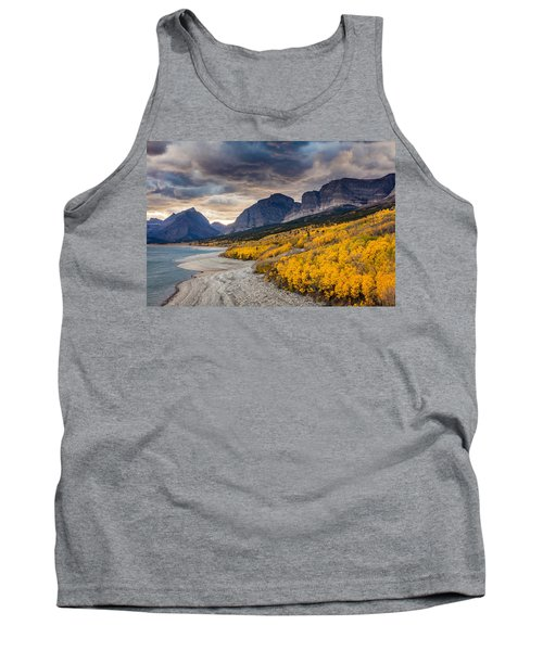 Tank Top featuring the photograph Dramatic Sunset Sky In Autumn  by Pierre Leclerc Photography