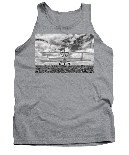 Dreaming Of Flight, In Black And White Tank Top