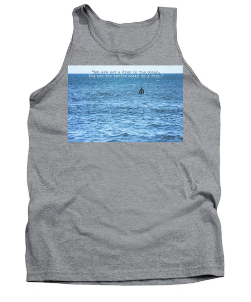 Drop In The Ocean Surfer  Tank Top by Terry DeLuco