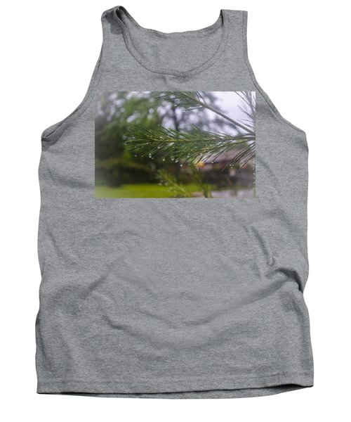 Droplets On Pine Branch Tank Top
