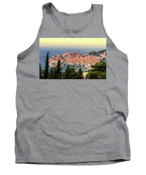 Dubrovnik Old City On The Adriatic Sea, South Dalmatia Region, C Tank Top