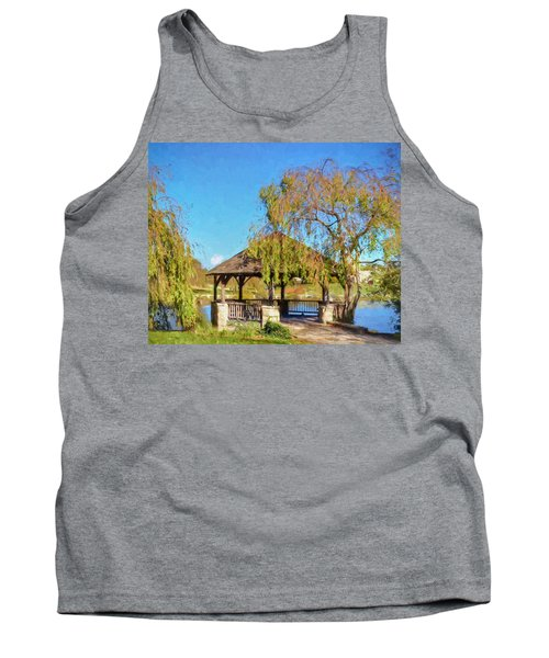 Duck Pond Gazebo At Virginia Tech Tank Top