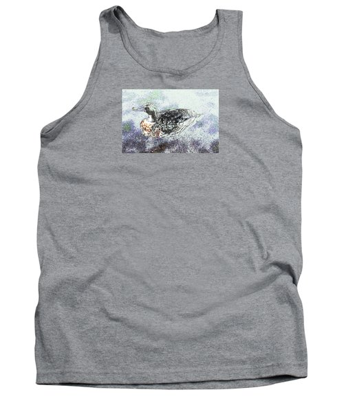 Tank Top featuring the photograph Duck With Fine Plumage by Nareeta Martin
