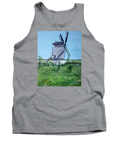 Dunkerque Windmill North Of France Tank Top by Francine Heykoop