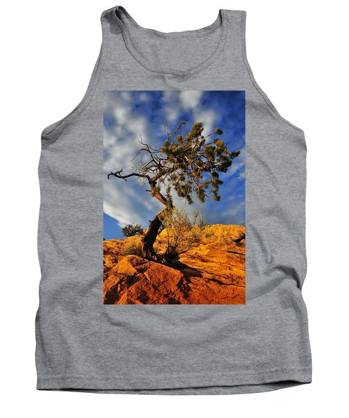 Tank Top featuring the photograph Dusk Dance by Skip Hunt