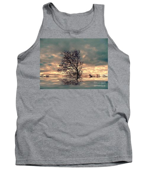 Tank Top featuring the photograph Dusk by Elfriede Fulda