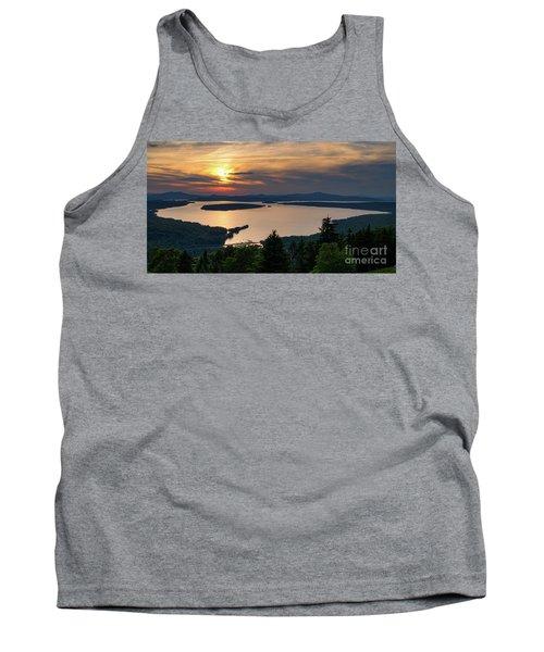 Tank Top featuring the photograph Dusk, Mooselookmeguntic Lake, Rangeley, Maine -63362-63364 by John Bald