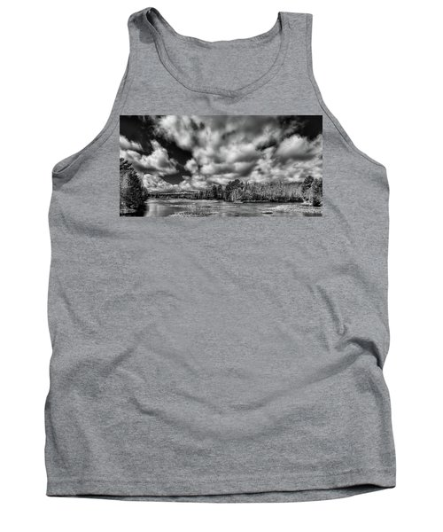 Tank Top featuring the photograph Dusting Of Snow On The River by David Patterson