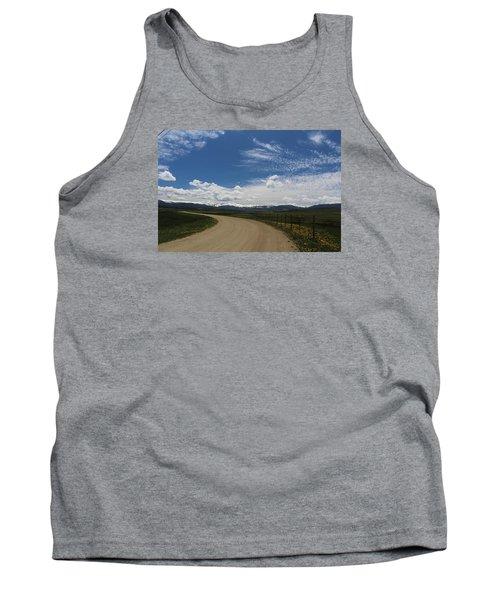 Dusty  Road Tank Top by Suzanne Lorenz