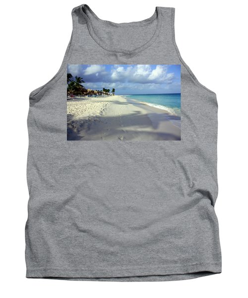 Tank Top featuring the photograph Eagle Beach Aruba by Suzanne Stout