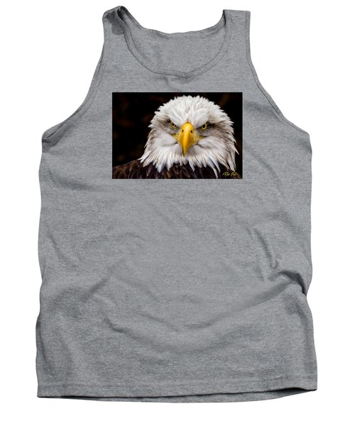Defiant And Resolute - Bald Eagle Tank Top by Rikk Flohr