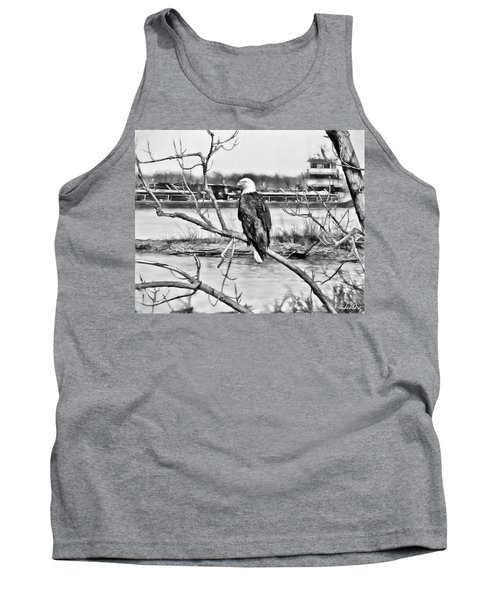 Eagle On The Illinois River Tank Top