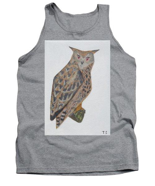 Eagle Owl Tank Top by Tamara Savchenko