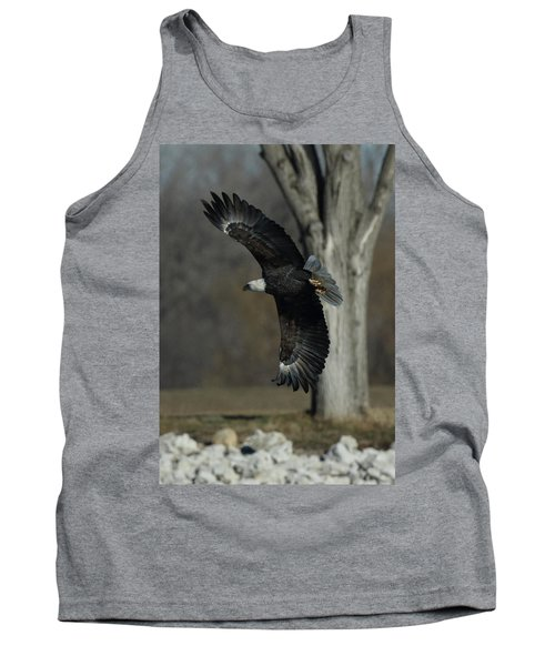 Eagle Soaring By Tree Tank Top by Coby Cooper