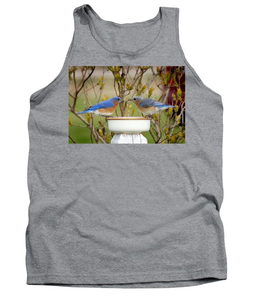 Early Bird Breakfast For Two Tank Top by Bill Pevlor