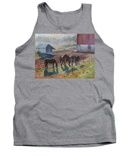 Early December At The Farm Tank Top