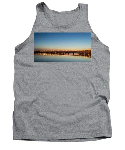 Early Evening Bridge At Sunset Tank Top