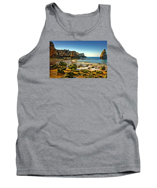 Tank Top featuring the photograph Early Morning Alvor Beach by Brian Tarr