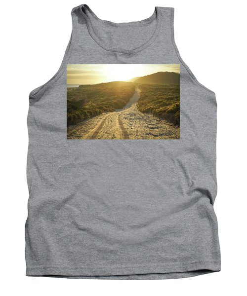 Early Morning Light On 4wd Sand Track Tank Top