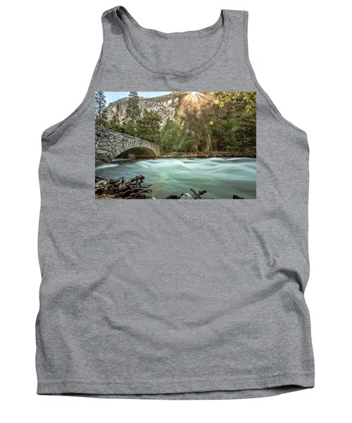 Early Morning On The Merced River Tank Top by Ryan Weddle