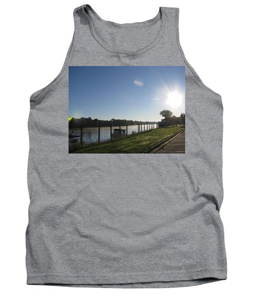 Early Morning On The Savannah River Tank Top by Donna Brown