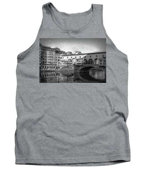 Tank Top featuring the photograph Early Morning Ponte Vecchio Florence Italy by Joan Carroll