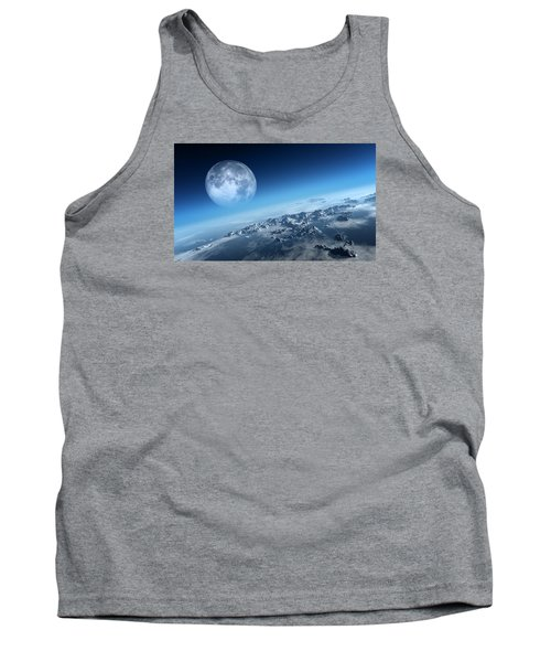 Earth Icy Ocean Aerial View Tank Top