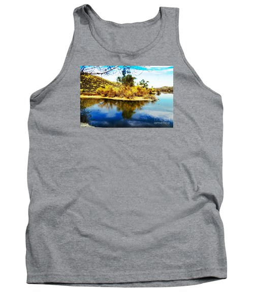 Tank Top featuring the photograph East Bay, Canyon Lake, Ca by Rhonda Strickland