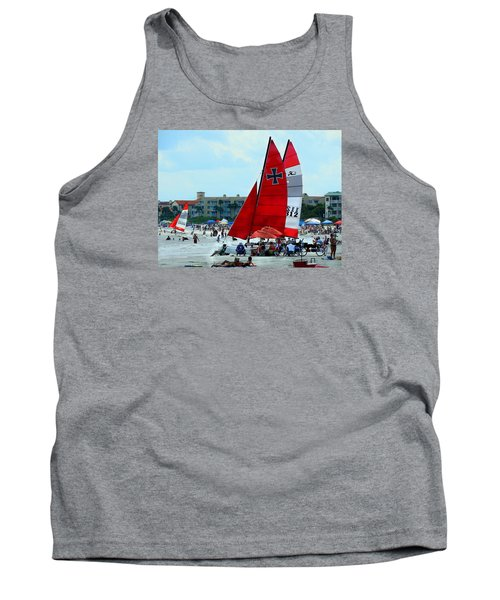 Tank Top featuring the photograph East Beach by Laura Ragland