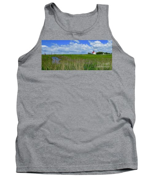 East Point Lighthouse Across The Marsh  Tank Top by Nancy Patterson