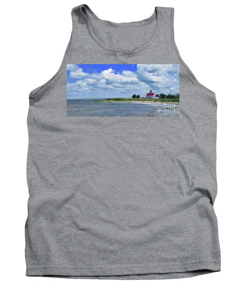East Point Lighthouse At High Tide Tank Top by Nancy Patterson