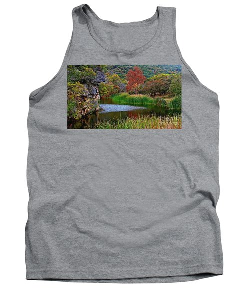 East Trail Pond At Lost Maples Tank Top