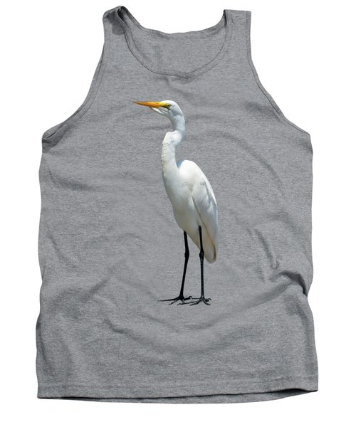 Eastern Great Egret Ardea Alba Modesta Tank Top