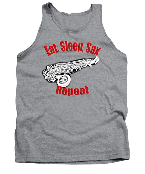 Eat Sleep Sax Repeat Tank Top