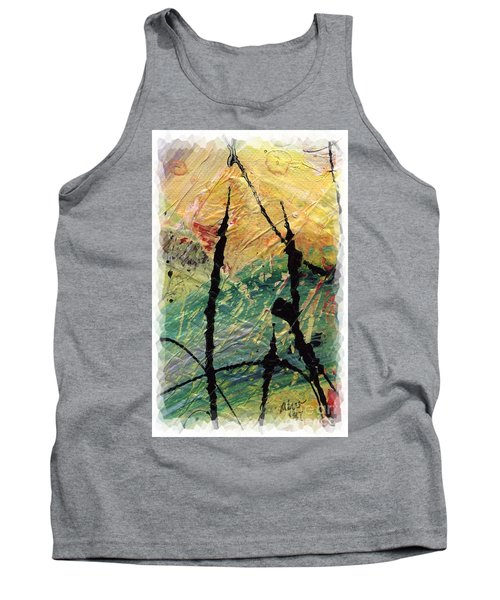 Tank Top featuring the painting Ecstasy II by Angela L Walker